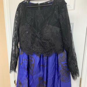 Two piece elegant dress size 16.
